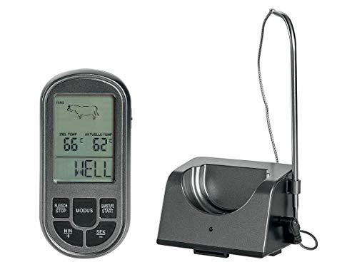 Byrak UNK - Termómetro digital para barbacoa y horno, 8 programas de cocción: pescado, vacuno, cerdo, cordero, pavo, pollo y hamburguesas