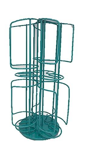 Tassimo Bosch Disque-T 48Kapselständer mit 2 Ebenen,Chrom, befüllbar, Turm (rutschfeste Basis 360)