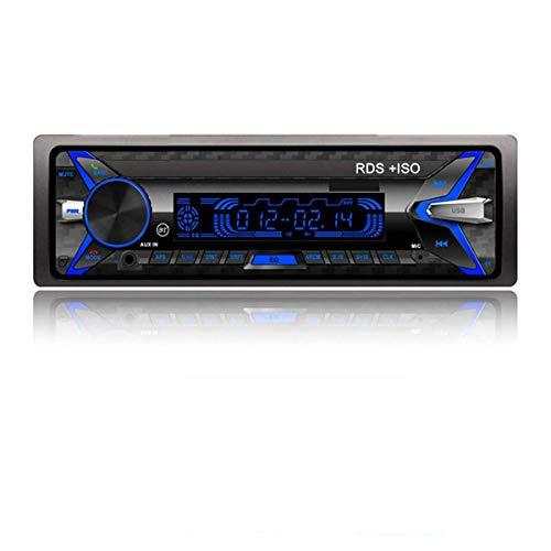 GOFORJUMP Bluetooth Desmontable RDS + Reproductor de MP3 para automóvil Solo DIN Audio estéreo para Auto 12V En el Tablero FM 1 DIN DIN Aux Reproductor de MP3 para automóvil