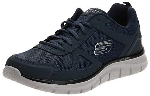 Skechers Track-scloric 52631-bbk - Scarpe da ginnastica basse da uomo, Blu (Marina Militare), 44 EU