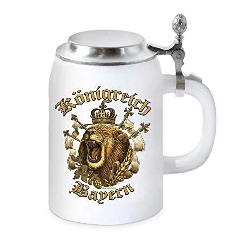 KMC-Austria - Boccale da birra con coperchio piatto, Regno di Baviera