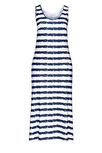 Sheego Kleid Maxikleid Blau - Weiß - Gr. 40