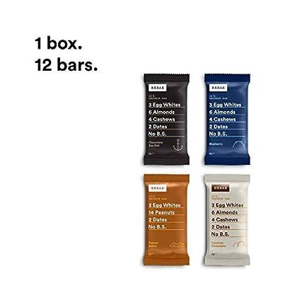 RXBAR, Protein Bar, Variety Pack, Gluten Free, Breakfast Bar, 12-Pack from RxBar
