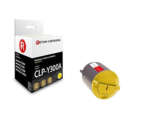 Original Reton Toner, kompatibel, Gelb für Samsung CLP-300 (CLP-Y300), Samsung CLP-300, CLP-300N, CLX-2160, CLX-2160N, CXL-3160FN, Gelb (Colors: 1000 Seiten)