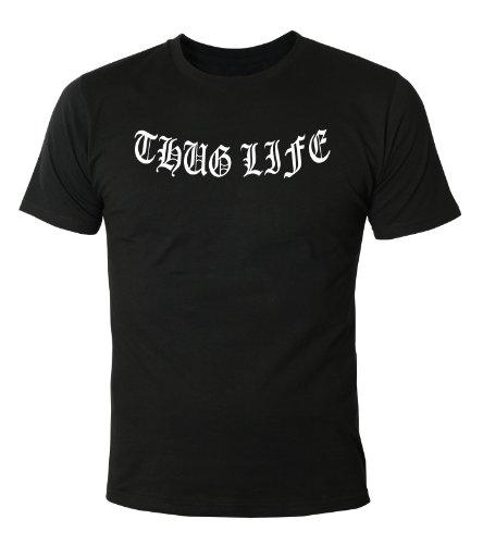 Mister Merchandise Cooles Herren T-Shirt Thug Life, Größe: XXL, Farbe: Schwarz