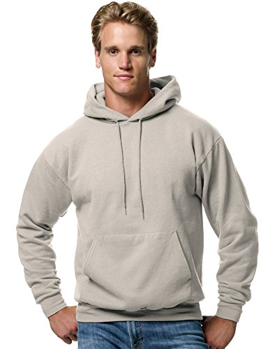 Hanes mens 7.8 oz. ComfortBlend EcoSmart 50/50 Pullover Hood(P170)-Sand-S