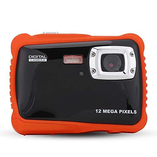 Oumij Macchina Fotografica Impermeabile per Bambini Videocamere Subacquea Fotocamera Digitale per Bambini Schermo TFT da 2,0 Pollici Videocamera per Nuoto Videocamera 1080P HD