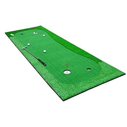 Golfausrüstung und -zubehör Tragbare Golf-Putting-Matte Indoor / Outdoor Green System Professionelle Trainingsmatte mit hochelastischer Gummisohle für Golf im Freien. ( Color : Green , Size : 1.0*3m )