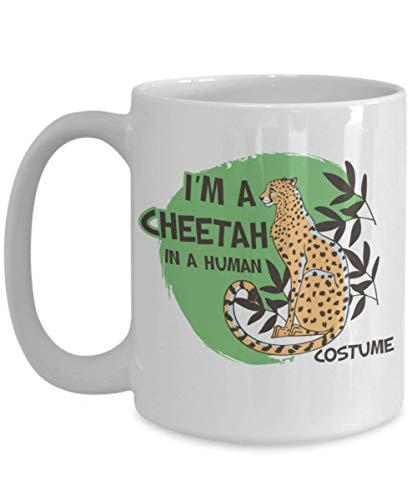 Taza t cermica uso prolongado Amante de los animales Soy un guepardo con un disfraz humano El mejor guepardo Los guepardos que aman los animales Taza bebida caf Regalo
