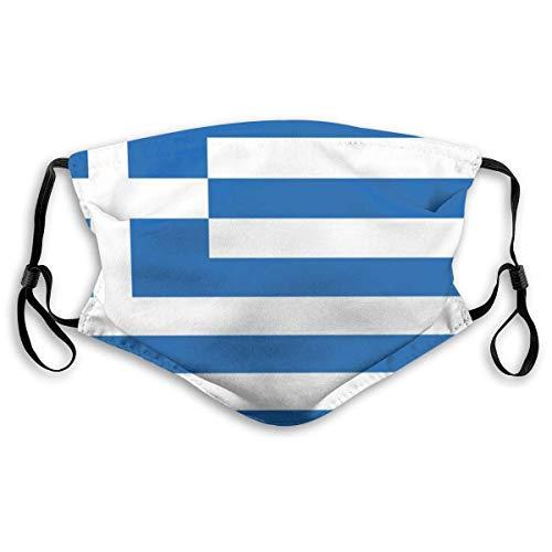 Gesichtsmasken waschbar Komfortable Winddichte Maske, griechische Flagge, Bedruckte Gesichtsdekorationen für Erwachsene Mann Frau Senior und Teenager Bandanas Maske schutzmaske