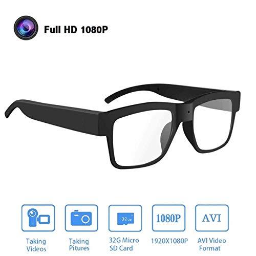 Produktbild von HFJ&YIE&H Kameragläser 1080P HD-Videobrille Max 32 GB Speicherkarte - Brille mit Kamera - Tragbare Kamera für Büro/Draussen/Ausbildung/Unterrichten/Kinder/Haustiere