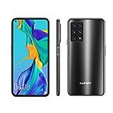 Unlocked Smartphone, HAFURY GT20 8GB RAM/128GB, 6.4-Inch Display, 48MP Cameras, 4200mAh Battery, Android 10, Global Version, Dual SIM, Black