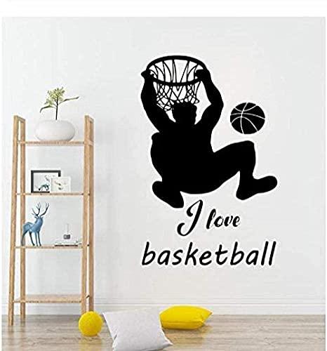 Pegatinas De Pared, Deportes Baloncesto Etiqueta De Navidad Pvc Pvc Vinilo Sala De Estar Dormitorio Ventana Principal Baño Oficina Dormitorio Tienda Decoración 57X83Cm