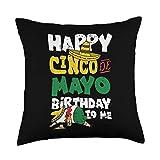 Cinco De Mayo Cloths Party Mexican Fiesta Gifts Happy Cinco De Mayo Birthday Drunk Mexican Drinking Tequila Throw Pillow, 18x18, Multicolor
