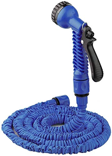 Manguera de jardín Tubería de agua extensible 3 veces de expansión de alta presión para lavado de autos Tubería de agua telescópica Manguera de riego con 7 funciones Tamaño de rociado 125 pies (a
