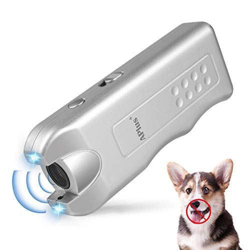 Geohee Anti Barking Device,Ultrasonic & Dog Bark Deterrent Devices Handheld Ultrasonic Anti Bark Dog Train Repeller Stop Barking
