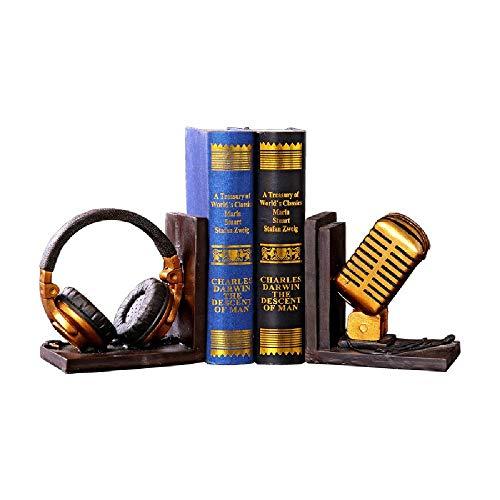 Extremos De Libros, Estantería Tapones Para Libros Decoración Organizador Escritorio Expansible Para Oficina Y Decoración Creativa Para El Estudio Del Hogar Librerías Estilo Occidental,19.4x9.7x16cm
