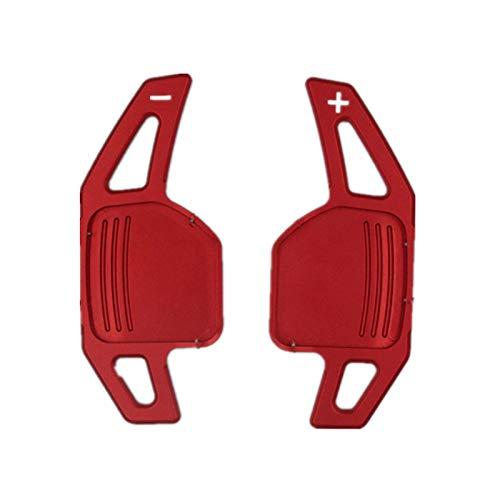 XHSM Auto-Gangschalter Für Audi A3 A4 A4L A5 A6 A7 A8 A8 Q3 Q5 Q7 TT S3 R8 Auto Lenkrad Verschiebung Paddel Shifter Verlängerung 2pcs / Lot (Color : ROT)