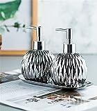 NJZYB 3 Piezas/Set Accesorios de baño Conjunto Conjunto de cerámica de Acero Inoxidable (Color : Silver, Size : As The Picture Shows)