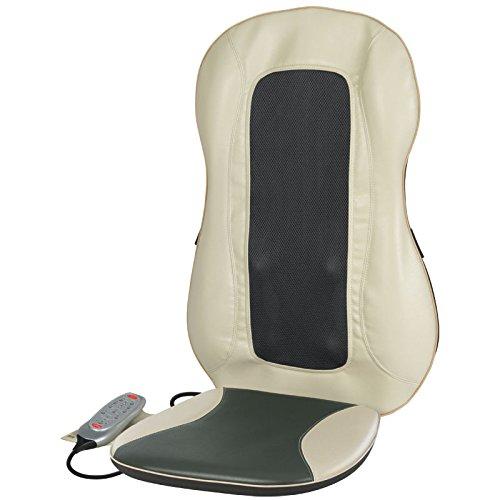 Health and Wellness MB4142 - Masajeador de espalda Shiatsu Deluxe con función de calor