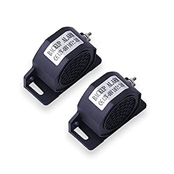 CENTAURUS 2pcs Car Back-up Alarm 102dB 12V-48V Waterproof Industrial Heavy-Duty Backup Reverse Warning Alarm with Super Loud Beeper Tone Replacement for Truck Van Freight Car Lorry Heavy Vehicles