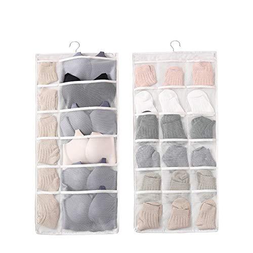 Sungkeen, organizer per borse da guardaroba, doppio lato in stoffa da appendere e organizer da appendere su entrambi i lati
