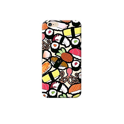 TheBigStock Cover Custodia per Tutti Modelli Apple iPhone x 8 7 6 6s 5 5s Plus 4 5c TPU B28 - AAB 11 Sushi, iPhone 6 Plus