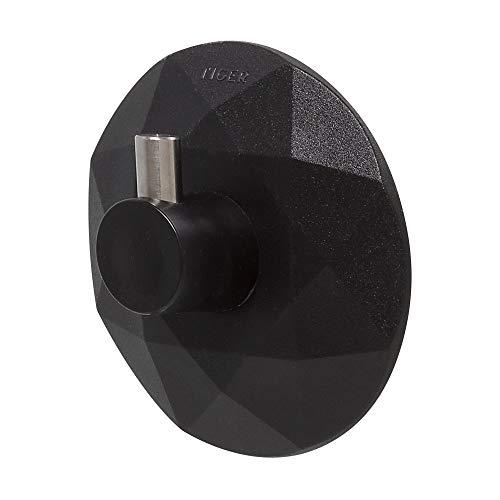 Tiger Saughaken Diamond, Kunststoff, Farbe: Schwarz, Haken mit extra großer Saugfläche