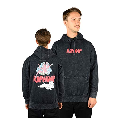 RIPNDIP Hoody Cherry Blossom (Grey Mineral wash) S