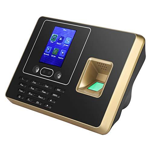 Professionele vingerafdrukscanner, gezichtsherkenning, 2,8 inch, V4.0-algoritme, voor Office Factory Hotel School, 24 uur, ondersteuning Excel-import, met DSP-processor, hoge gevoeligheid, EU.