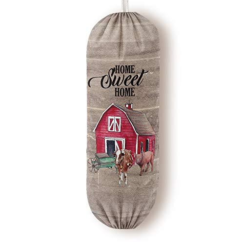 Farmhouse Grocery Bags Dispenser Decor for Plastic Garbage Bags Shopping Bags Holder Storage Organizer Decorations Great Gift for Women Mother Grandma Wife Home Sweet Home