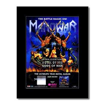 Music Ad World Manowar - Gods of War Mini-Poster, matt, 28,5 x 21 cm