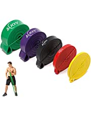 AiJoy Pull-up fitnessbanden, weerstandsband, fitnessband, optrekbanden, weerstandsbanden, natuurlijk latex als weerstand voor krachttraining, fitness, optrek- en spieropbouw, pilates, crossfit yoga