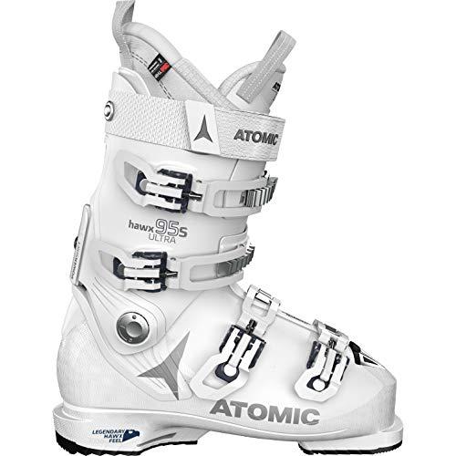 Atomic Damen HAWX Ultra 95 S W Ski-Stiefel, White/Silver/Dark Blue, 42 EU