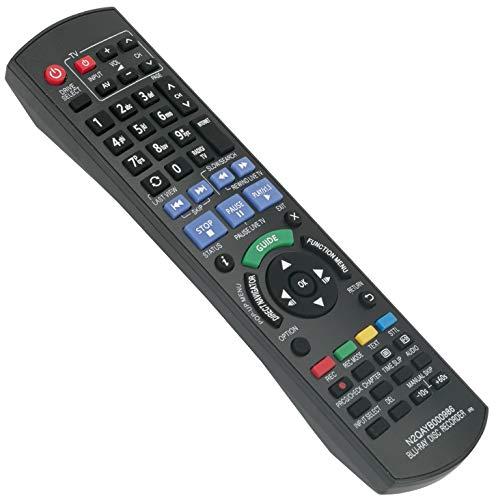 ALLIMITY N2QAYB000986 Fernbedienung Ersetzen für Panasonic Blu-Ray Player DMR-BCT740EG DMR-BCT74ENK DMR-BCT845EG DMR-BCT84EN DMR-BCT84ENS DMR-BCT940 DMR-BCT940EG DMR-BST745EG