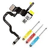 MMOBIEL Botón de Encendido Cable Flexible LED Flash y Mic instalados Compatible con iPhone X 5.8 pulg. Series y htas.