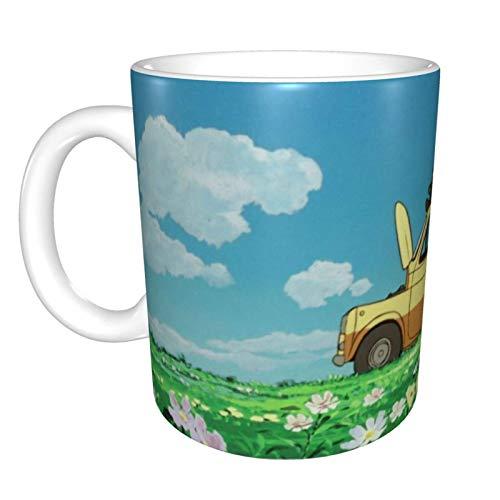 Yanting Château de Cagliostro Unique drôle Tasse de café en céramique Bureau à Domicile café Tasse à thé pour Cadeau de Festival de nouveauté