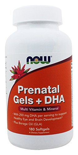 Now Prenatal Gels and DHA Supplement 180 Softgels