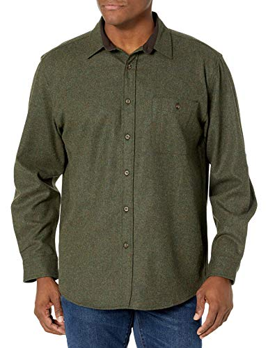 Pendleton Herren Long Sleeve Front Tall Trail Shirt Button Down Hemd, Torfmoos Mix, Mittel