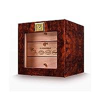 SUNTAOWAN シガーボックス、三層シーダー葉巻ヒュミドール、シガーピアノ内閣良い気分、グッドライフペイント(カラー:ブラウン) シガーケース