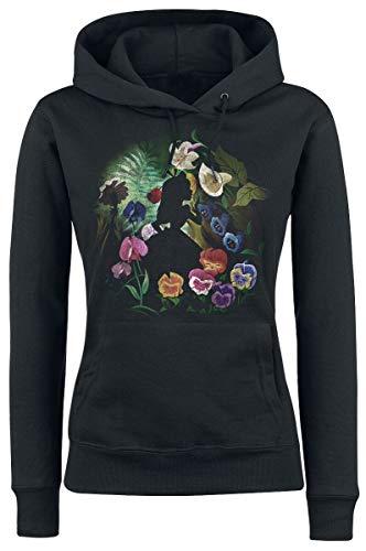 Alice im Wunderland Black Flower Kapuzenpullover schwarz XL