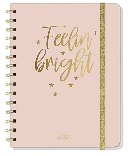 Gold Spiral-Kalenderbuch A5 - Mit außergewöhnlicher Ausstattung - Kalender 2021 - Heye-Verlag - Taschenkalender mit extra viel Zubehör - 16,5 cm x 21,5 cm