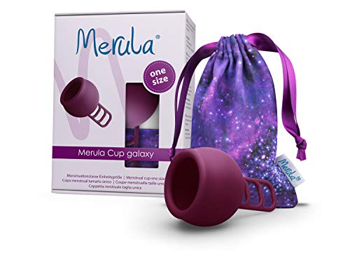 Merula Cup galaxy (violett) - One size Menstruationstasse aus medizinischem Silikon