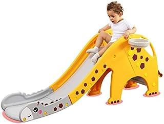 MOWA Cartoon Children Kids Folding Slide Indoor Outdoor Slide For Kids and Climber Toy,Slide With Basketball Hoop, Climb S...