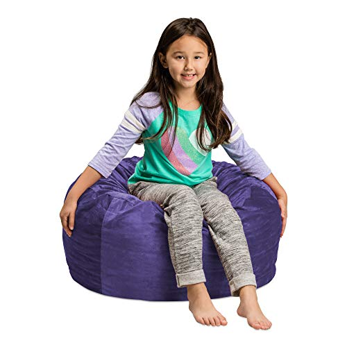 Sofa Sack - Plush, Ultra Soft Kids Bean Bag Chair - Memory Foam Bean Bag Chair with Microsuede Cover - Stuffed Foam Filled Furniture and Accessories For Kids Room - 2' Purple