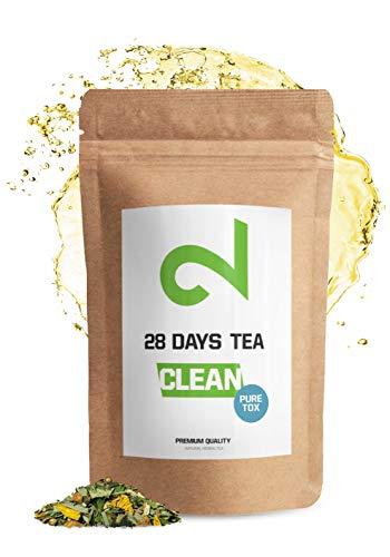 DUAL 28 Days Detox Tea - Té desintoxicante | Para Pérdida de Peso |Té Adelgazante y Purificador| Infusión de Dieta Para Pérdida de Grasa|Quemagrasa Natural|Té de hojas sueltas|Hecho en Alemania| 85g