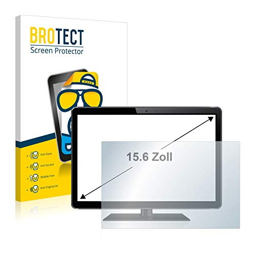BROTECT Entspiegelungs-Schutzfolie für Industrie-Monitore mit (15.6 Zoll) [345 mm x 194 mm, 16:9] Matt, Anti-Reflex, Anti-Fingerprint