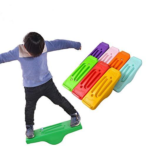 lijunjp Wobble Balance Board, Stabilitätsboard für Kinder und Erwachsene, rutschfeste TPE-Bump-Oberfläche, einfaches Kerntraining für Tänzer, Yoga, Ausgleichsübungen, zufällige Farbe