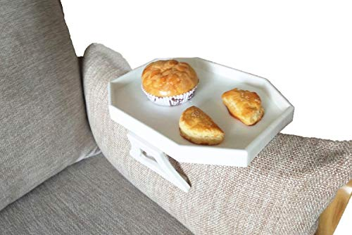 CLEVER BEAR Clip-on Sofa Armrest Snack Tray,Armrest Table Sofa Chair Armrest Tray Organizer Serving Table Remote Control Holder, Side Table