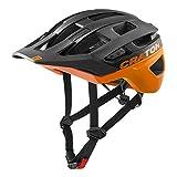 Cratoni AllRace 2021 - Casco de bicicleta para hombre y mujer, color negro y naranja
